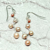 norosesjewelry.com - Los Angeles - Vines Earrings Peach Pearl