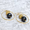norosesjewelry.com - Los Angeles - Planet Blue Pearl Earrings`