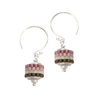 norosesjewelry.com - Los Angeles - Grommet Earrings Purple Dew