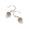norosesjewelry.com - Los Angeles - Grommet Earrings Champagne with Smokey Quartz