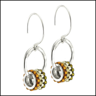 Drop Grommet Earrings Mandarin , Earrings - No Roses Metro, No Roses Jewelry Artisan Jewelry Los Angeles - 1