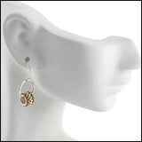 Drop Grommet Earrings Mandarin , Earrings - No Roses Metro, No Roses Jewelry Artisan Jewelry Los Angeles - 2