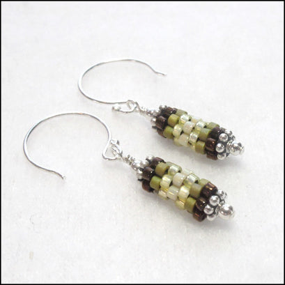 Bits Earrings Moss , Earrings - No Roses Jewelry, No Roses Jewelry Artisan Jewelry Los Angeles - 1