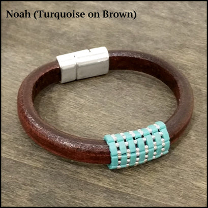 norosesjewelry.com - Los Angeles - Tilé - Big Leather Bracelet