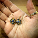 "Bespoke Lapis and Gold Earrings ""Vivian"" , Earrings - No Roses Metro, No Roses Jewelry Artisan Jewelry Los Angeles - 2"