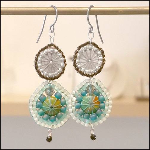 Danni Turquoise Earrings , Earrings - No Roses Metro, No Roses Jewelry Artisan Jewelry Los Angeles - 1