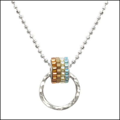 Candi Sterling and Miyuki Pendant , Necklace - No Roses Metro, No Roses Jewelry Artisan Jewelry Los Angeles - 1