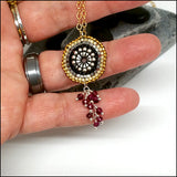 Eyeful of Garnet Necklace , necklace - No Roses Metro, No Roses Jewelry Artisan Jewelry Los Angeles - 3