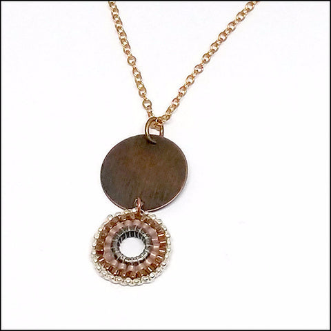 Brass Beauty Pendant , necklace - No Roses Metro, No Roses Jewelry Artisan Jewelry Los Angeles - 1