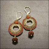 Red Jasper Rounds Earrings , Earrings - No Roses Metro, No Roses Jewelry Artisan Jewelry Los Angeles - 1