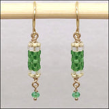 Birthstone Bits Emerald Earrings