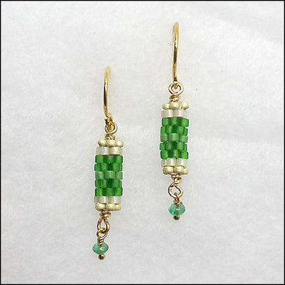 norosesjewelry.com - Los Angeles - Birthstone Bits Emerald Earrings
