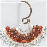 Fan Earrings, Sunstone Brown