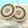 norosesjewelry.com - Los Angeles - Mandala Ice Circle Earrings