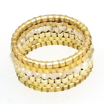 norosesjewelry.com - Los Angeles - Terrain Band Ring Gold Dust