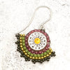 norosesjewelry.com - Los Angeles - Gemstone Fan Earrings Beaujolais