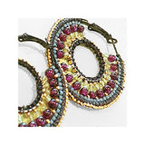 Mandala Royal Hoops with Garnet