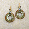 norosesjewelry.com - Los Angeles - Moss Coin Drop Earrings
