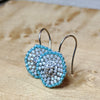 norosesjewelry.com - Los Angeles - Coinette Earrings - Turquoise Blue
