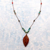 norosesjewelry.com - Los Angeles - Nymph Jasper Leaf Necklace