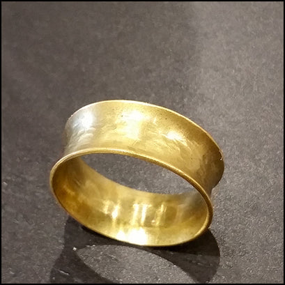 Gold Brass Flare Comfort Band Ring , rings - No Roses Ore, No Roses Jewelry Artisan Jewelry Los Angeles