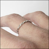 Double Helix Stacking Ring , rings - No Roses Ore, No Roses Jewelry Artisan Jewelry Los Angeles - 2