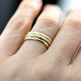 Triple Wedding Band Set , rings - No Roses Ore, No Roses Jewelry Artisan Jewelry Los Angeles - 1