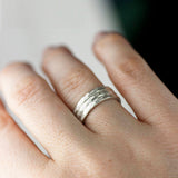 Triple Wedding Band Set 5 / Sterling Silver, rings - No Roses Ore, No Roses Jewelry Artisan Jewelry Los Angeles - 6