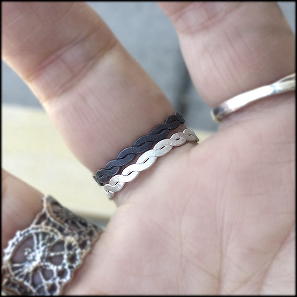Double Helix Twist Pair , rings - No Roses Ore, No Roses Jewelry Artisan Jewelry Los Angeles - 1