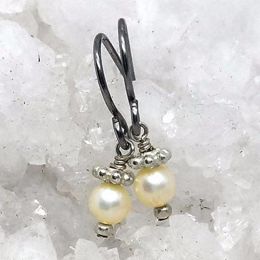 Petite White Pearl Earrings