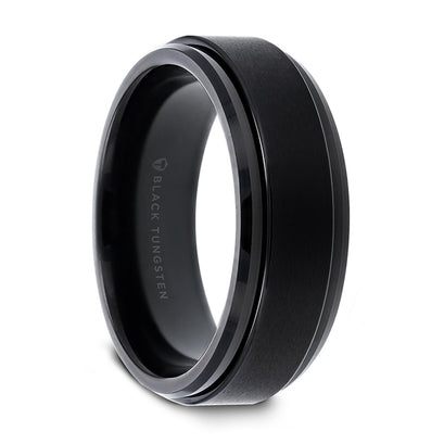 norosesjewelry.com - Los Angeles - Revolve Black Tungsten Spinner Ring