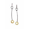 norosesjewelry.com - Los Angeles - Sun Spot Gold and Pearl Cup Dangle Earrings