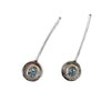 norosesjewelry.com - Los Angeles - Circle Stick Earrings with Gemstone and Sterling Silver