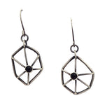 Blackened Sterling Web Earrings with Black Onyx