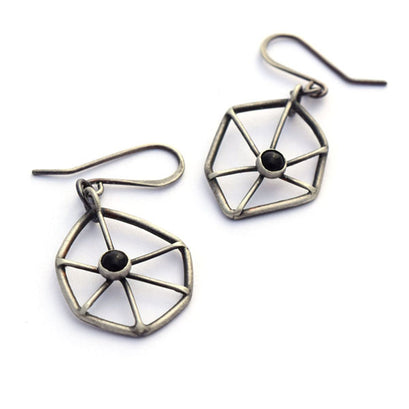norosesjewelry.com - Los Angeles - Blackened Sterling Silver Earrings with Black Onyx