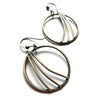 norosesjewelry.com - Los Angeles - Handcrafted Blackened Sterling Silver Hoop Earrings