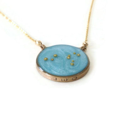 norosesjewelry.com - Los Angeles - Leo Zodiac Necklace Constellation Pendant in Gold or Silver