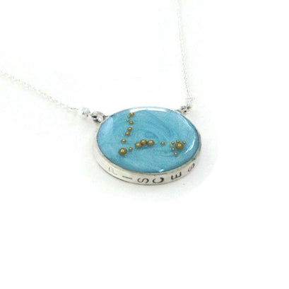 norosesjewelry.com - Los Angeles - Pisces Zodiac Necklace Constellation Pendant in Gold or Silver