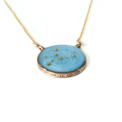 norosesjewelry.com - Los Angeles - Virgo Zodiac Necklace Constellation Pendant in Gold or Silver