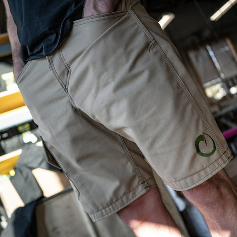 Origin Tan Sharkfin Cargo Shorts