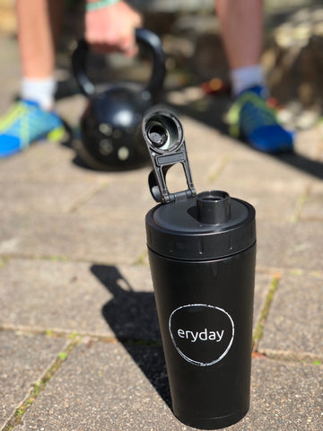 Eryday insulated stainless steel shaker bottle