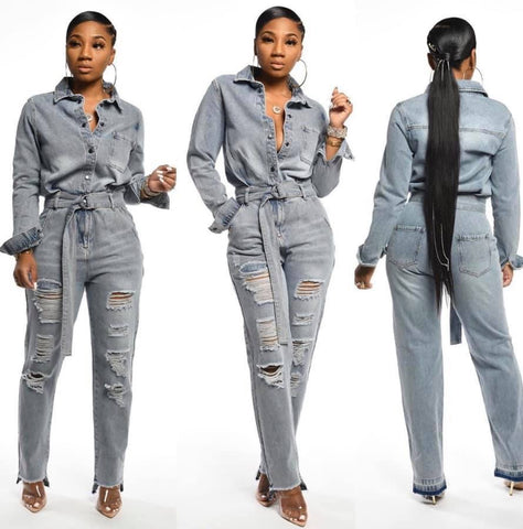 Ze-Denim Jumpsuit