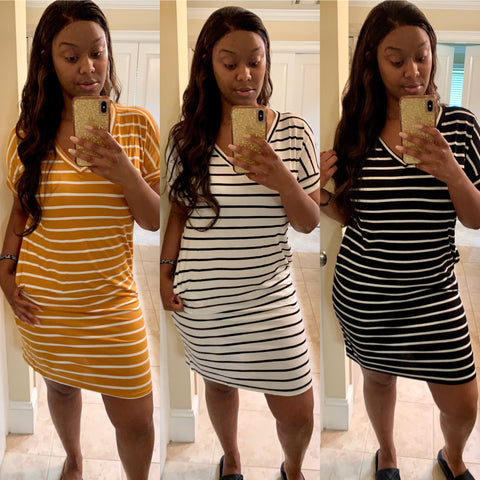 "Chill ""Stripes"" T-Shirt Dress"
