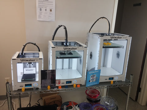 Ultimaker Go, Ultimaker 2+, and Ultimaker 2+ Extended at Printed Solid
