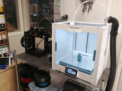 Ultimaker S5 and Maker Gear M3 at Printed Solid