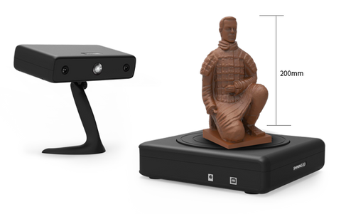 Scan size of Automatic Scan Mode Einscan-S 3D Scanner
