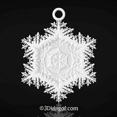 Fractal Snowflake by Dizingof available for download from Ponoko