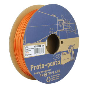 Proto-Pasta Tangerine Orange Metallic Gold HTPLA 1.75mm X 500g