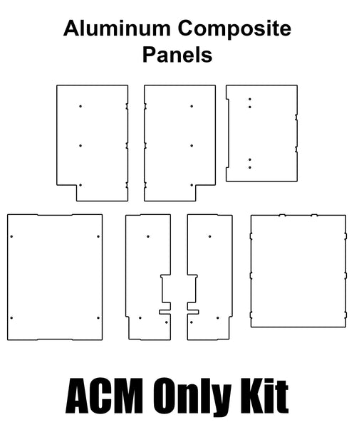 Voron Switchwire Panel Set Made From Aluminum Composite Material