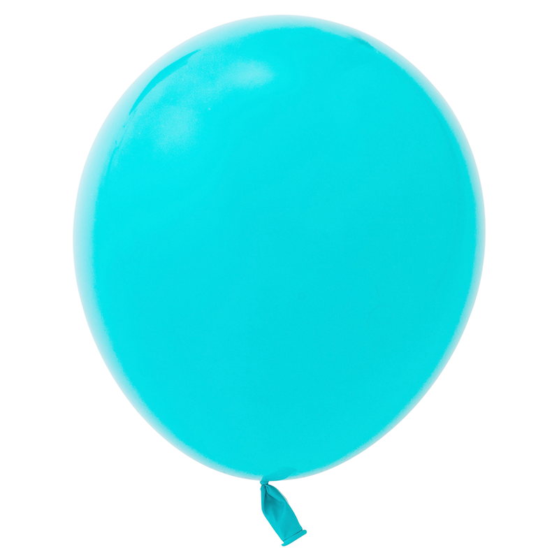 "11"" Solid Latex Balloons - Aqua Blue"